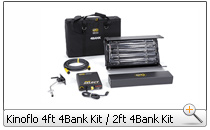 Kinoflo 4ft 4Bank und 2ft 4Bank Kit